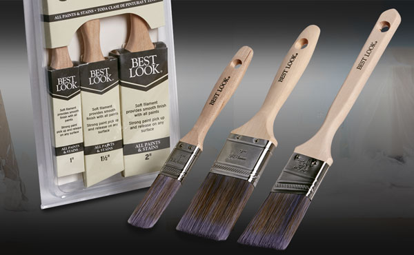 Best Look 3-Pc. Polyester Paint Brush Set